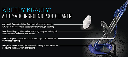 Kreepy Krauly Automatic Pool Cleaner Pleated Seal
