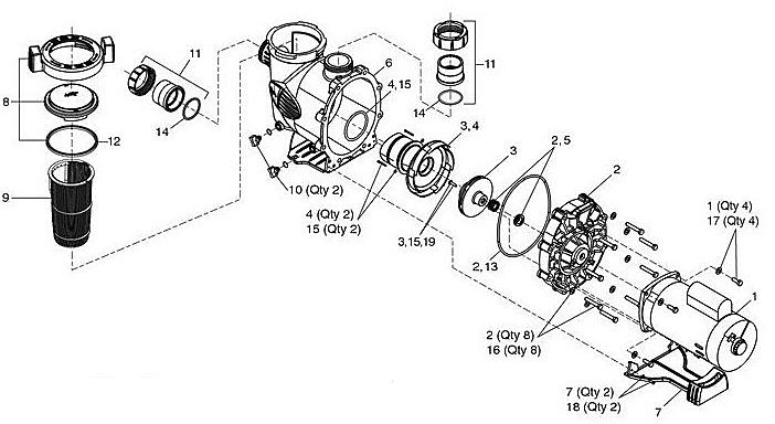 motor parts  pool motor parts