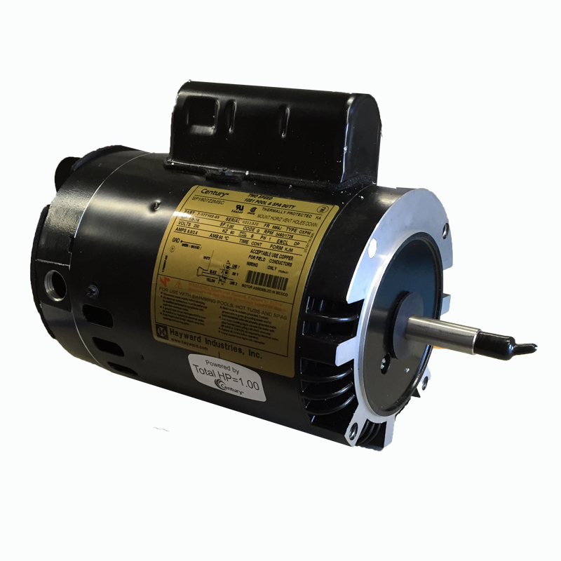 Hayward super pump replacement motor 1 hp 2 speed for Hayward 1 1 2 hp pool pump motor