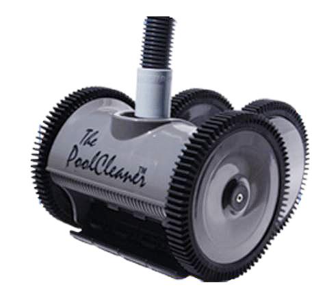 Poolvergnuegen PoolCleaner 4-Wheel Inground Suction Side Cleaner Dark Gray