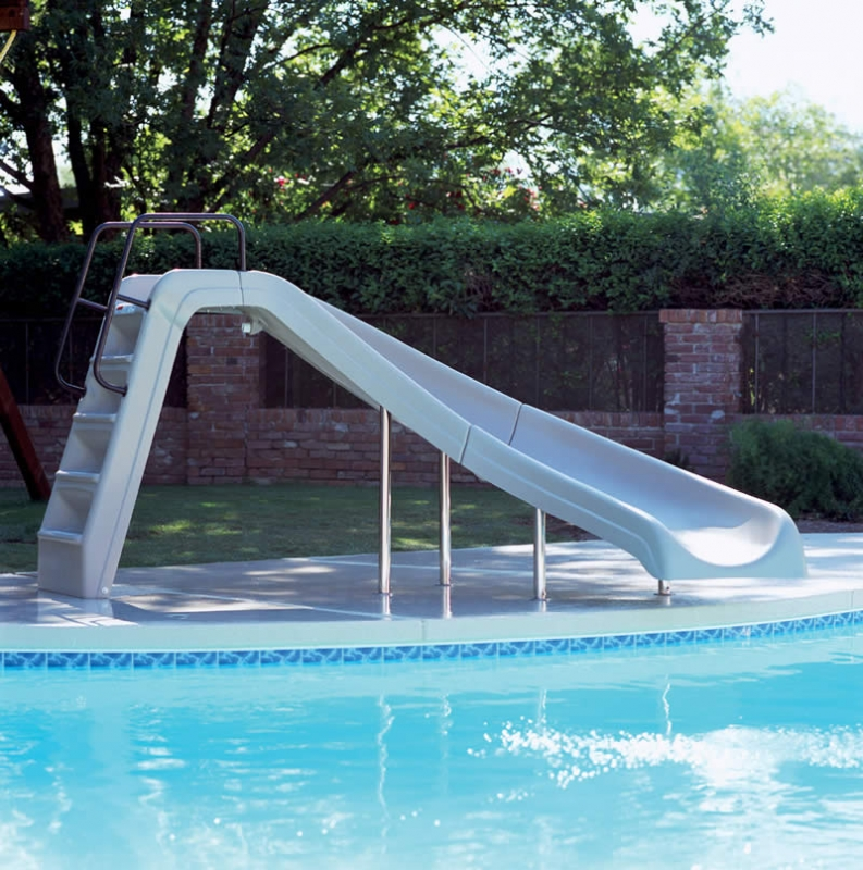 Interfab white water slide left turn t for Swimming pool water slide parts