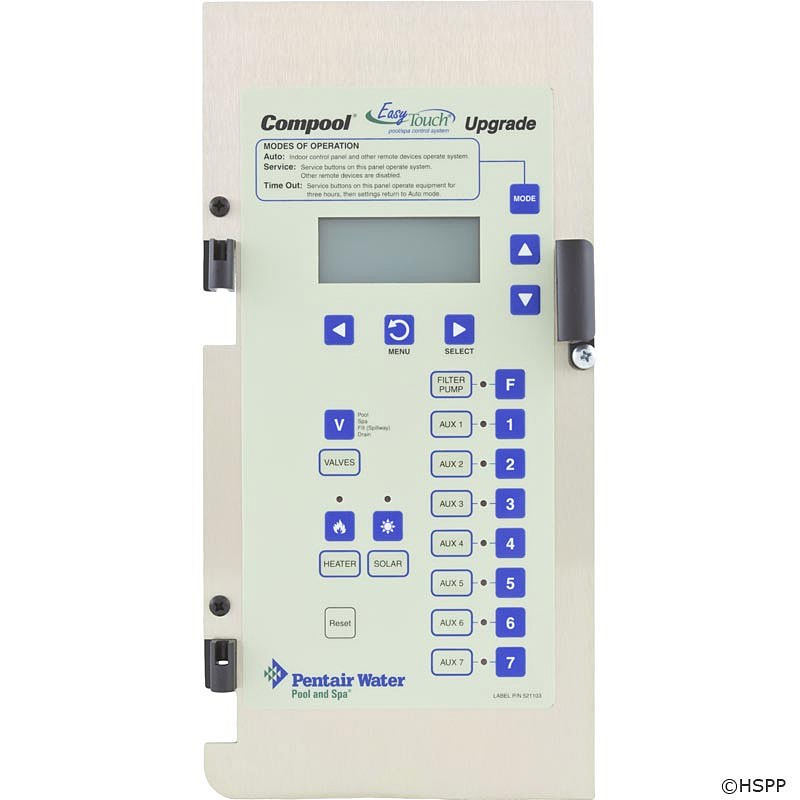 compool upgrade to easytouch by pentair model 521107 without rh americanbestpoolsupply com pentair easy touch user manual pentair easy touch user manual