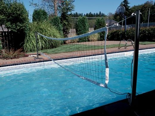 Sr Smith Swim N Spike Volleyball Set With Anchors Stainless Steel Poles Pool Pump Motor Supply