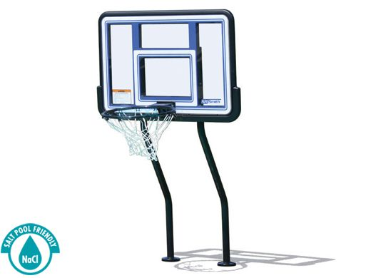 Sr Smith Salt Pool Friendly Basketball Game With Anchors Vinyl Coated Dual Post Pool Pump