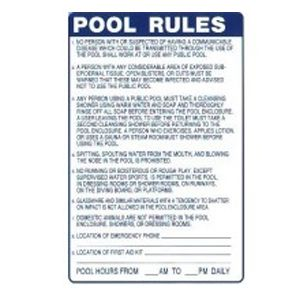 Minnesota Pool Rules 24 Inches X 36 Inch