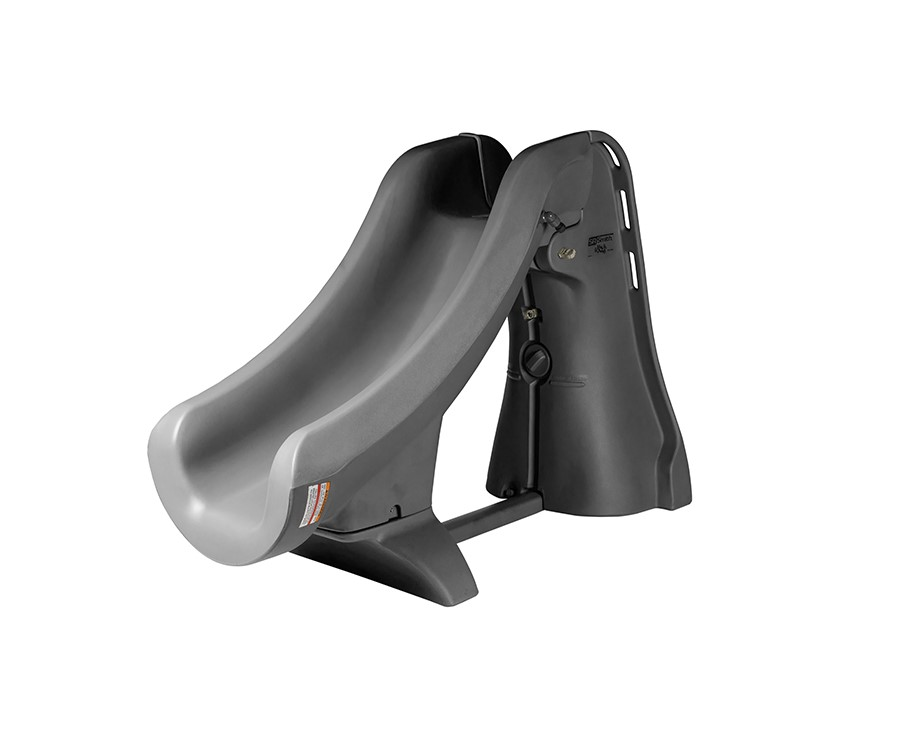 SlideAway Removable In-Ground Pool Slide, Gray Color