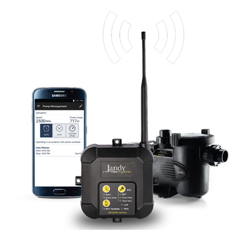 Jandy User Wifi Interface Variable Speed Pump Call For Pri