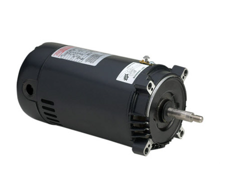 AO Smith Round 48Y Frame Thread Shaft Motor .75 HP 2 Speed Energy Efficient