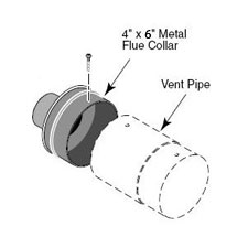 Indoor Adapter Ventilation Kit for Sta-Rite Heaters 4 in. x 6 in.