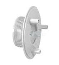 AquaStar 4 in Sumpless Bulkhead Fitting with 2 in MPT and 1.5 in Slip Socket WHITE