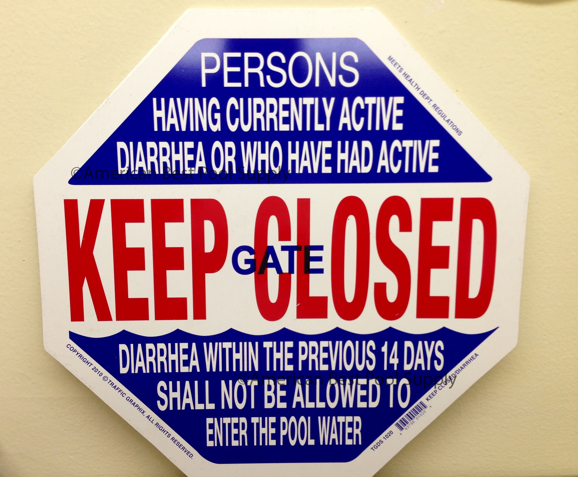 California Water Heater Code Keep Gate Closed & Diarrhea Sign For Californ