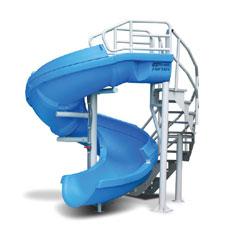 SR Smith Vortex Slide with Open Flume and Ladder- Blue